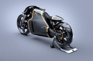 "The Lotus C-01: Classic ""Cafe Racer"" Design meets Futuristic Styling"