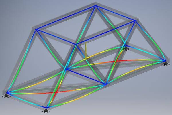 autodesk bridge beam fea fastway training modal analysis