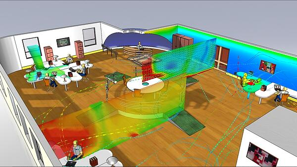 mentor floefd hvac cfd fluid thermal analysis
