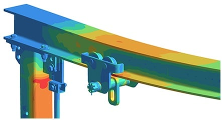 simsolid fea bolted joint stress beam fastway training