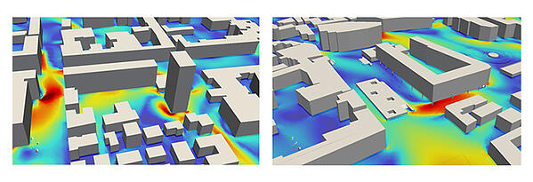 wind effect simscale cfd pedestrian comfort